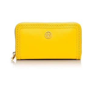 FLASH SALE! Tory Burch Spectator Yellow Wallet